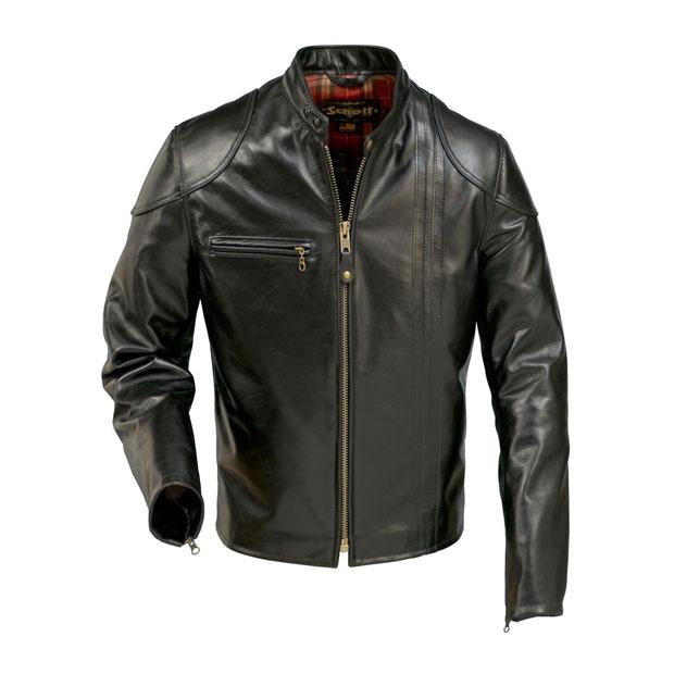schott 664 retro cafe racer leather jacket king of fuel. Black Bedroom Furniture Sets. Home Design Ideas